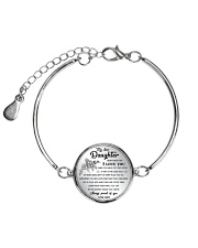 MY DAUGHTER - MOM Metallic Circle Bracelet front