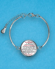 TO MYgranddaughter - grandma Metallic Circle Bracelet aos-bracelet-metal-front-lifestyle-3