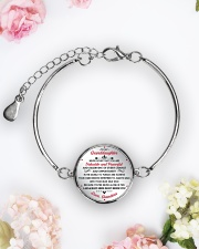 TO MYgranddaughter - grandma Metallic Circle Bracelet aos-bracelet-metal-front-lifestyle-6
