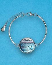MY GRANDDAUGHTER - GRANDMA Metallic Circle Bracelet aos-bracelet-metal-front-lifestyle-3