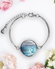 MY GRANDDAUGHTER - GRANDMA Metallic Circle Bracelet aos-bracelet-metal-front-lifestyle-6