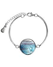 MY GRANDDAUGHTER - GRANDMA Metallic Circle Bracelet front