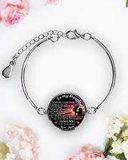 TO MY DAUGHTER - MOM Metallic Circle Bracelet aos-bracelet-metal-front-lifestyle-6
