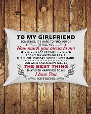 TO GIRLFRIEND Rectangular Pillowcase aos-pillow-rectangle-front-lifestyle-2