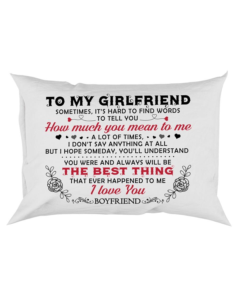 TO GIRLFRIEND Rectangular Pillowcase