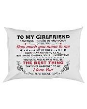 TO GIRLFRIEND Rectangular Pillowcase front