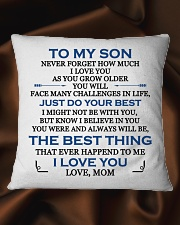 MY SON - MOM Square Pillowcase aos-pillow-square-front-lifestyle-41