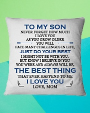 MY SON - MOM Square Pillowcase aos-pillow-square-front-lifestyle-5
