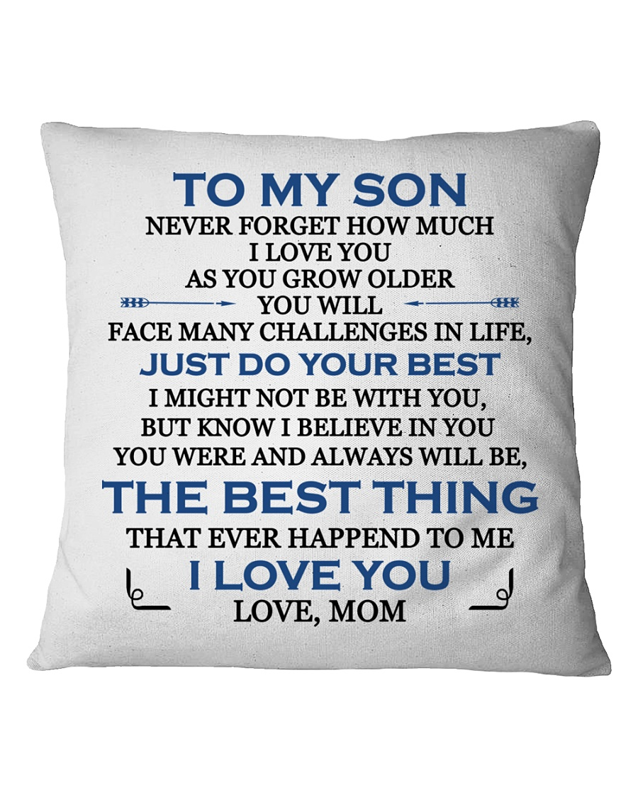 MY SON - MOM Square Pillowcase
