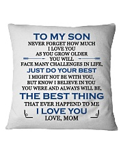 MY SON - MOM Square Pillowcase front