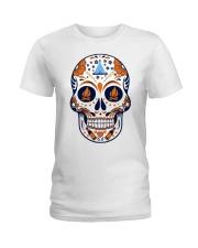Camping Sugar Skull Ladies T-Shirt thumbnail