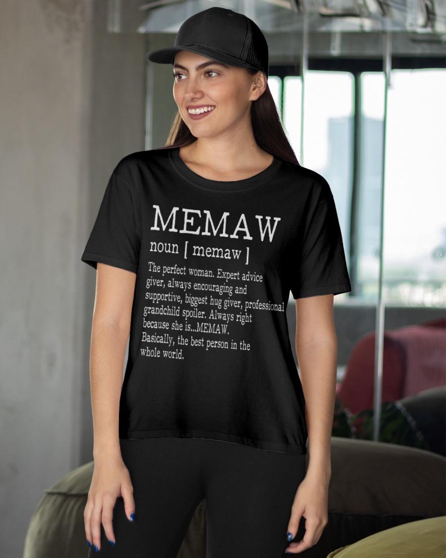 Grandma Memaw Definition Women Unisex Sweatshirt tee