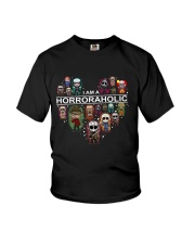 I AM A HORRORAHOLIC Youth T-Shirt thumbnail