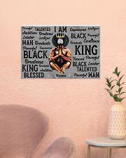 Black king 24x16 Poster poster-landscape-24x16-lifestyle-23