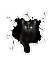 Black Cat Sticker - Single (Vertical) front