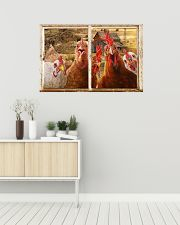 Chickens  36x24 Poster poster-landscape-36x24-lifestyle-01