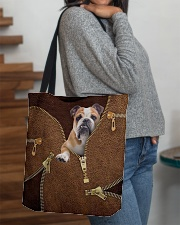 English Bulldog All-over Tote aos-all-over-tote-lifestyle-front-09