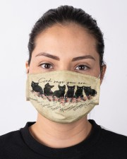 God Says You Are Black Cat Cloth face mask aos-face-mask-lifestyle-01