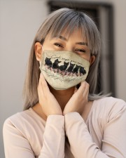 God Says You Are Black Cat Cloth face mask aos-face-mask-lifestyle-17