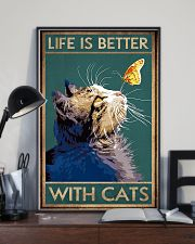 Life Is Better With Cats 11x17 Poster lifestyle-poster-2