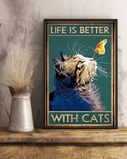 Life Is Better With Cats 11x17 Poster lifestyle-poster-3
