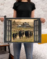 Angus cattle 24x16 Poster poster-landscape-24x16-lifestyle-20