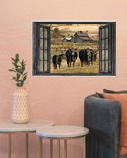 Angus cattle 24x16 Poster poster-landscape-24x16-lifestyle-22