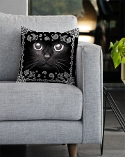 Black Cat Square Pillowcase aos-pillow-square-front-lifestyle-05
