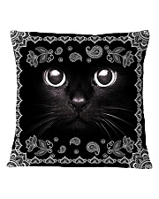 Black Cat Square Pillowcase front