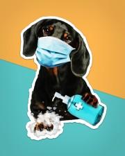 dachshund wash hands Sticker - Single (Vertical) aos-sticker-single-vertical-lifestyle-front-02