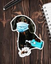 dachshund wash hands Sticker - Single (Vertical) aos-sticker-single-vertical-lifestyle-front-05