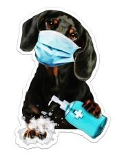 dachshund wash hands Sticker - Single (Vertical) front