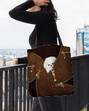 Pomeranians All-over Tote aos-all-over-tote-lifestyle-front-05