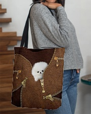 Pomeranians All-over Tote aos-all-over-tote-lifestyle-front-09