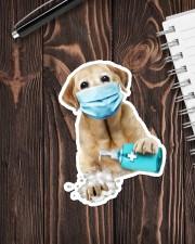 Labrador Wash Hands Sticker - Single (Vertical) aos-sticker-single-vertical-lifestyle-front-05