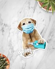 Labrador Wash Hands Sticker - Single (Vertical) aos-sticker-single-vertical-lifestyle-front-06