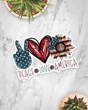 Peace love america Sticker - Single (Horizontal) aos-sticker-single-horizontal-lifestyle-front-06