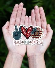 Peace love america Sticker - Single (Horizontal) aos-sticker-single-horizontal-lifestyle-front-20