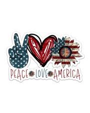 Peace love america Sticker - Single (Horizontal) front