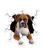 Boxer Crack Sticker - Single (Vertical) front
