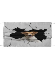 Jack Russell Crack Cloth face mask front