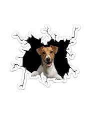 Jack Russell Crack Sticker tile