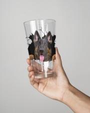 German shepherd 16oz Pint Glass aos-16oz-pint-glass-lifestyle-front-02