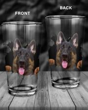 German shepherd 16oz Pint Glass aos-16oz-pint-glass-lifestyle-front-18