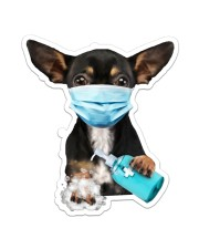 Chihuahua Wash Hands Sticker - Single (Vertical) front