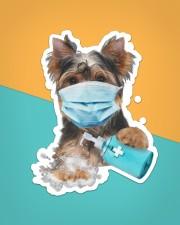 yorkshire terrier wash hands Sticker - Single (Vertical) aos-sticker-single-vertical-lifestyle-front-02