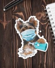 yorkshire terrier wash hands Sticker - Single (Vertical) aos-sticker-single-vertical-lifestyle-front-05