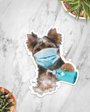 yorkshire terrier wash hands Sticker - Single (Vertical) aos-sticker-single-vertical-lifestyle-front-06