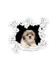 Shih Tzu  Crack Sticker - 4 pack (Vertical) front