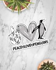 Peace Love Penguins  Sticker - Single (Horizontal) aos-sticker-single-horizontal-lifestyle-front-06